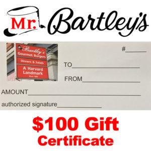 MrBartley's $100 Gift Certificate