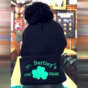 MrBartley Black Pom Pom Hat